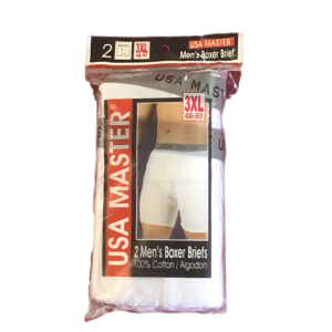 Men BOXERS BRIEFS WHITE  2XL-3XL BY DOZEN (SPECIAL PRICE)